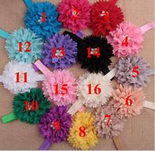 New Fashion Hot children kids Baby girls pearl diamond chiffon flower Headband Headwear Hair Band Head Piece Accessories YH542 amazing fashion 1pc girls kids pearl headband bow lace headband flower headwear children hair accessories