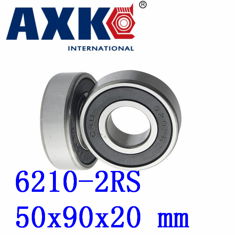 Axk 6210-2rs Black Rubber Sealed Deep Groove Ball Bearing 50mm X 90mm X 20mm 6000 2rs sealed deep groove ball bearing 10mm inner dia black silver tone