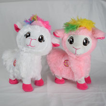30cm Soft Cotton Electronic Alpaca Stuffed Plush Toy Doll Rainbow Horse Lama Animals Toys For Children Birthday Christmas Gifts(China)