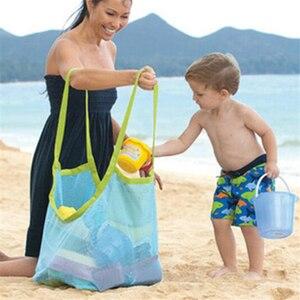 حار أمي الطفل حقائب الشاطئ كبير حجم النساء الاطفال شبكة حقيبة حقيبة ساع لعبة أداة تخزين يد الحقيبة حمل الأطفال حقيبة كتف