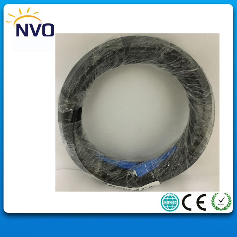 20M FTTH GJXH Indoor Fiber Optic Patch cord,SM,Duplex,G657A,LSZH,SC/UPC on both termination,50cm between Black Tap to Connector