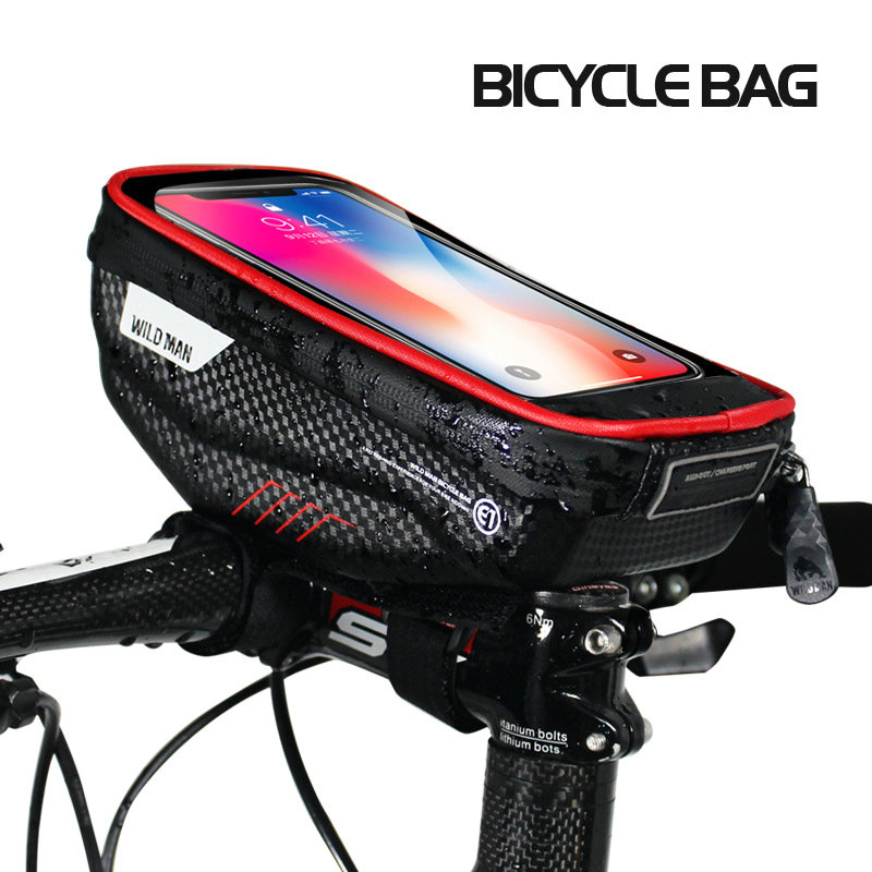 New Bicycle Mountain Bike Front Frame Pannier Tube Bag Case Pouch For Phone US