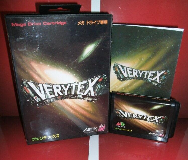 Juegos de Sega tarjeta de Verytex con caja y manual para Sega MegaDrive Consola de Videojuegos de 16 bits MD tarjeta