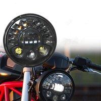 Davidson светодиодный фары 7 ''Светодиодная лампа для Harley 70 W Hi/Lo луч для 7 дюймов мотоцикл Проектор светодиодный налобный фонарь