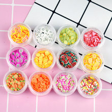 Monssjay 12 Types/Set Fruit Slices Slime Filler Fruit Nails Art Decoration Kids slime DIY Accessories Supplies Toys(China)