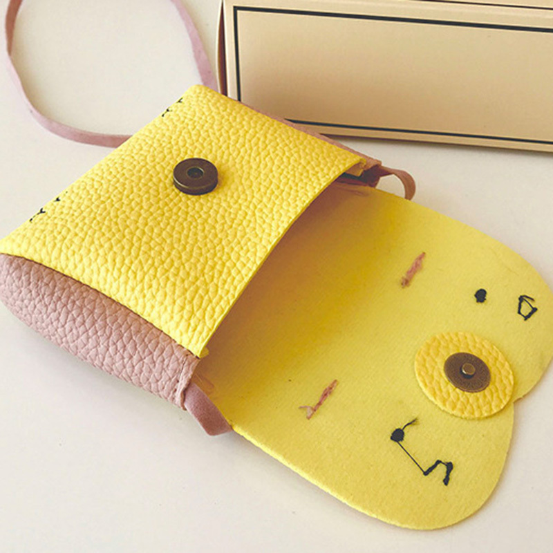 Rabbit Mini Baby Girls Street Sweet Coin Hasp Purse Kids Messenger Bag PU Leather Children Ladies Shoulder Bags(China)