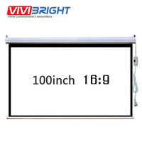 Brand ViviBright 100 inch 16:9 Electric Projector Wall Mounted Screen. Apply to All Projector. Electric remote control