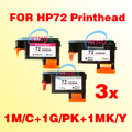 3x Excelente cabeça de impressão para HP 72 Da Cabeça De Impressão 72 cabeça De Impressão Hp Designjet T610/T620/T770/T790/T1100/T1120/T1200/T1300/T2300