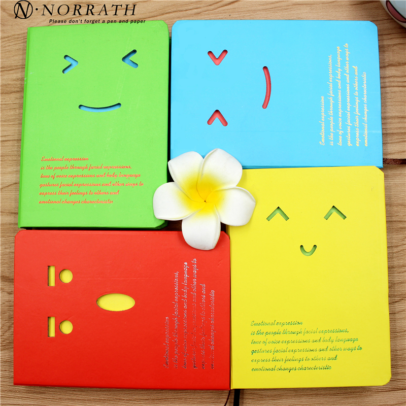 NORRATH Kawaii Stationery Cute Expression Mini Notebook Lovely Memo Pad Post Det Office School Gaveartikler Notisblokk