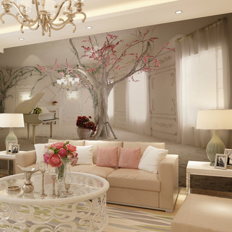 Online buy wholesale 3d wallpapers from china 3d for Beautiful wall mural