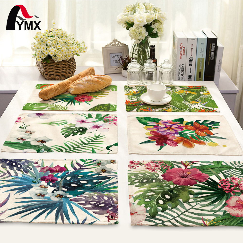 42*32cm Leaves Printed Table Napkins for Wedding Party Table Cloth Dinner Napkin Decor Home Textile guardanapos de tecido ...