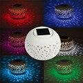 Hi-Lumix RGB Цветная Керамическая светодиодная Солнечная лампа Новинка Шар садовый свет наружная лампа-Солнечный светодиодный ночник