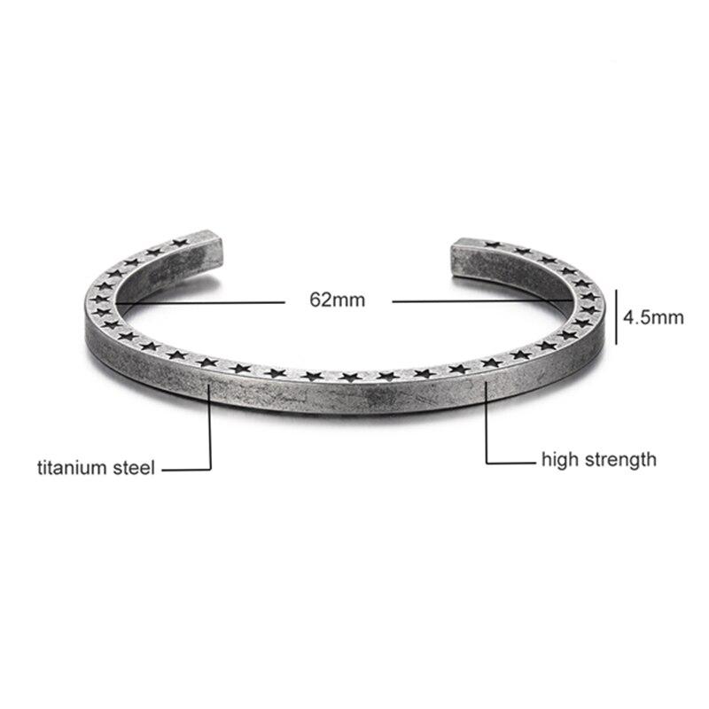 Bracelet Style rétro titane acier viking 4