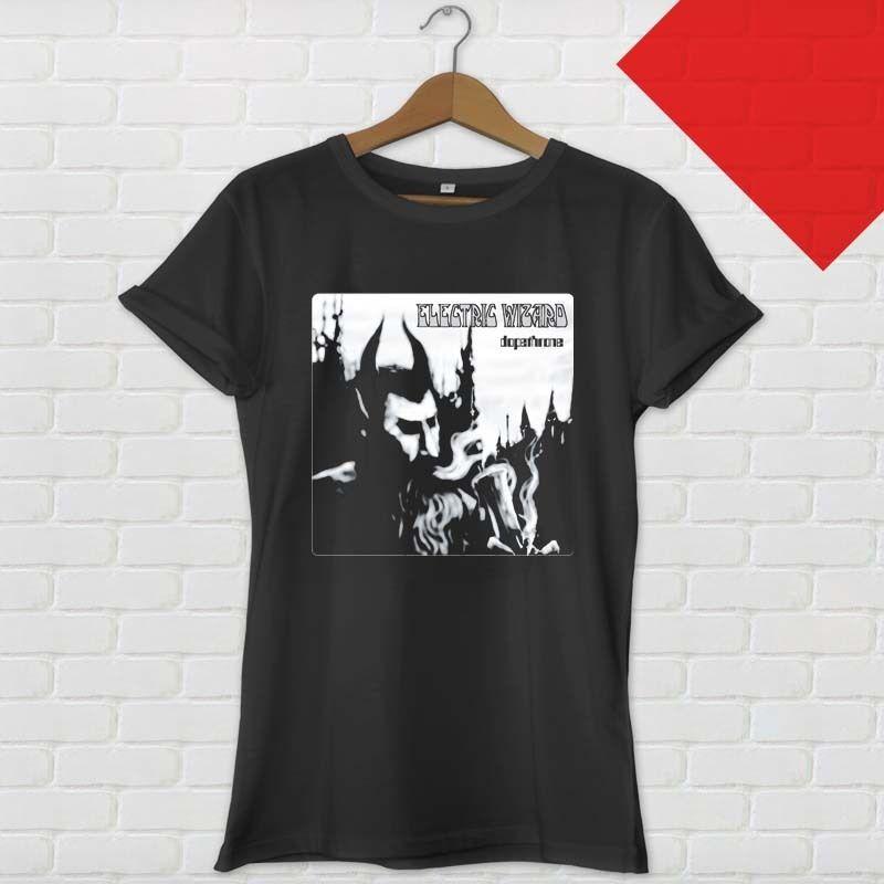 Shop Shirts Short Sleeve Zomer Crew Neck Mens Electric Wizard Dopethrone Album Rock Band T Shirts
