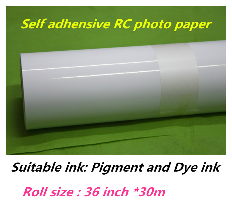 36in*30m waterproof RC glossy surface photo paper sticker roll with quality glue