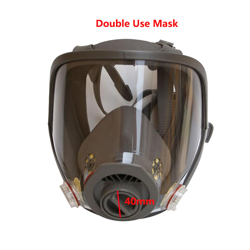 Safety Painting Spraying Double Use Gas Mask Samilar For 3M 6800 Gas Mask Full Face Facepiece Chemcial Respirator