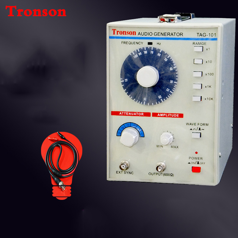 220V/110V TAG-101 Low Frequency audio signal generator Signal Source 10 Hz-1 MHz Y 10hz 1mhz low frequency function signal audio generator producer rek rag101