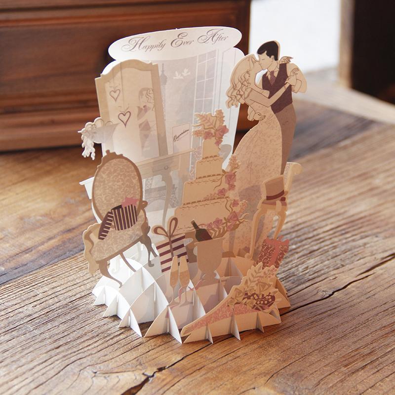 10pcs Handmade Romantic Anniversary 3d Pop Up Greeting Love Cards With White Lover Free Envelope For Gifts Free Shipping Card And Envelope Envelope Walletenvelope Pendant Aliexpress