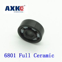 Axk 6801 Full Ceramic Bearing ( 1 Pc ) 12*21*5 Mm Si3n4 Material 6801ce All Silicon Nitride Ceramic 6801 Ball Bearings цена и фото