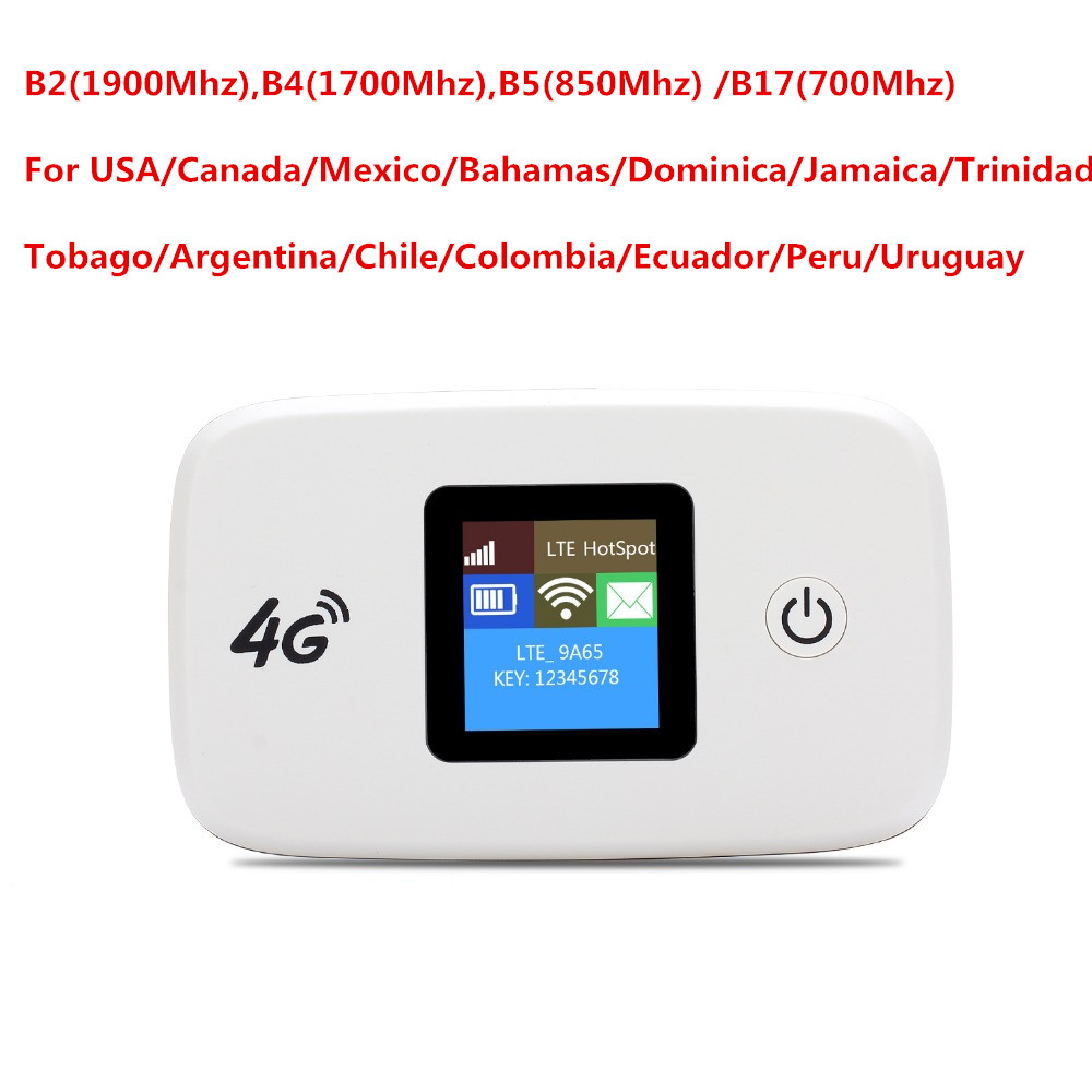 Unlocked Travel Partner 150Mbps LTE Mobile WiFi Hotspot 4G Wireless Router For USA/CA/Mexico/Jamaica/Argentina/Chile/Colombia jamaica jamaica no problem