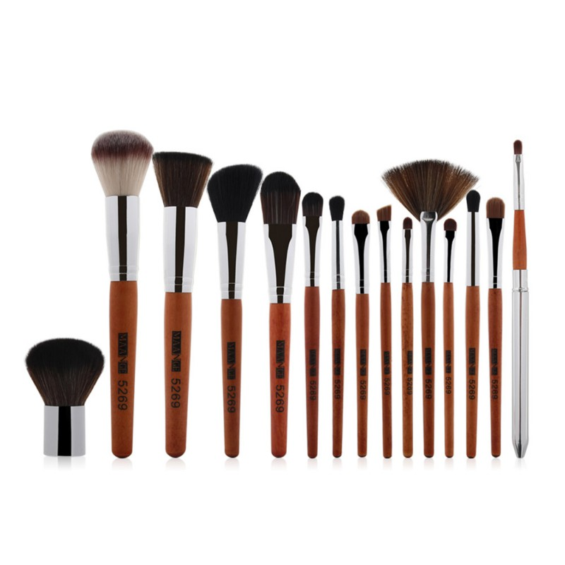 15 Pcs 1 Set Makeup Brushes Professional Synthetic Cosmetic Makeup Brush Foundation Eyeshadow Eyeliner Brushing Brush