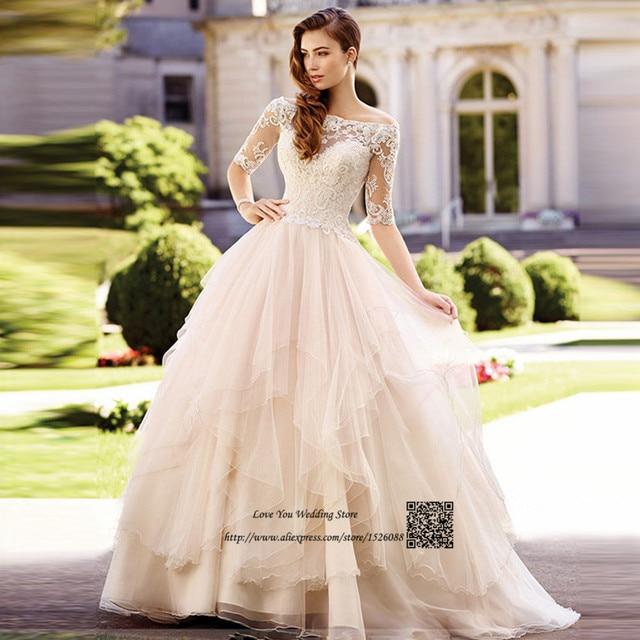 Robe de Mariage Spring Korean Wedding Dress Vintage Lace Wedding ...