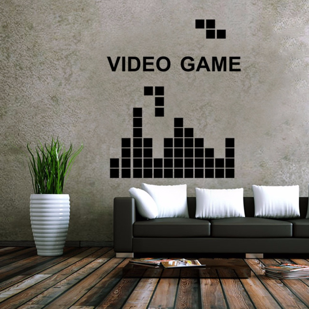 Video game wall decals image collections home wall decoration ideas tetris game video game vinyl wall decal home decor kids room tetris game video game vinyl amipublicfo Choice Image