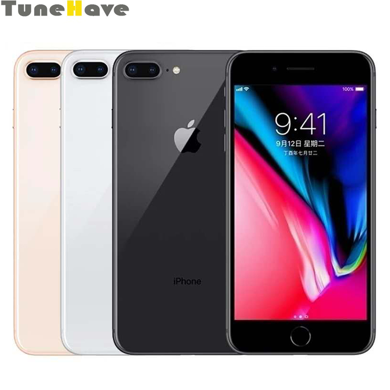 Original Unlocked Apple iPhone 8/iPhone 8 Plus 2GB RAM 64GB 256GB ROM Hexa Core 12MP iOS 11 LTE Fingerprint Smartphone 4G LTE