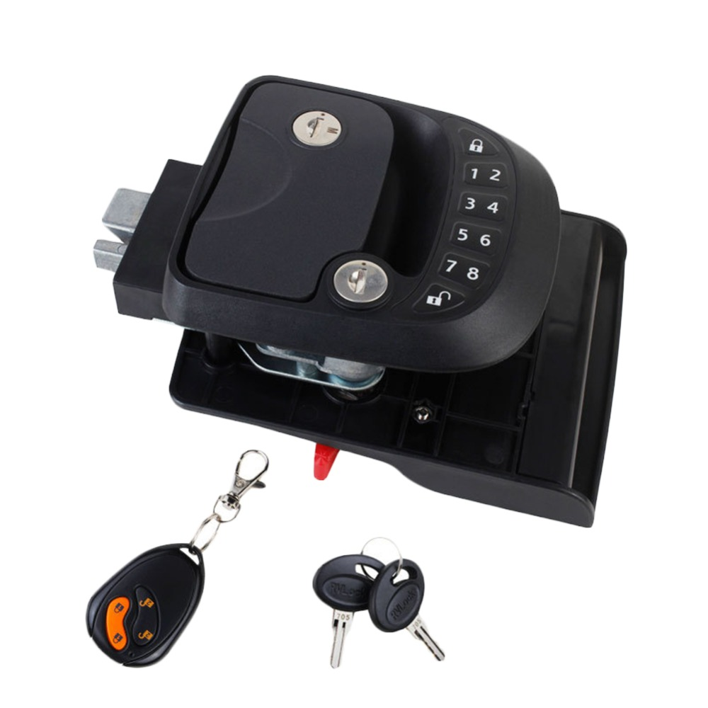 2018 New Car RV Keyless Entry Door Lock Latch Handle Knob Deadbolt NEW RV Camper Trailer Black #279370