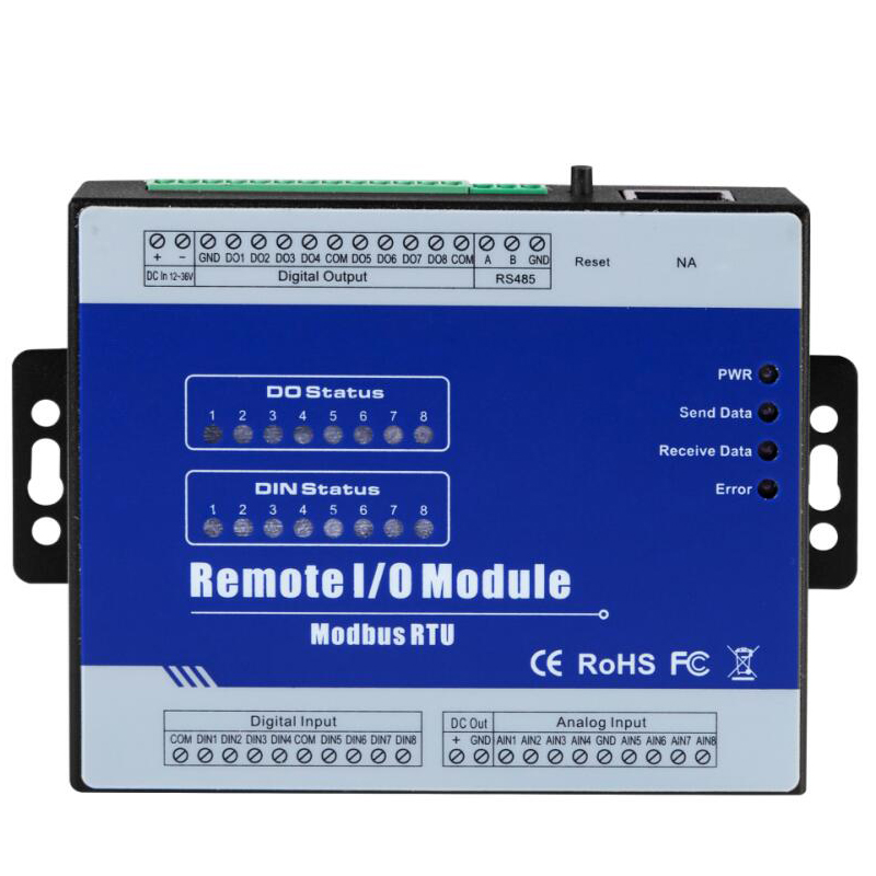 Modbus Remote IO Module Data Acquisition Module(8DI+8RO+8AI) inbuilt Watchdog High Speed pulse output M160