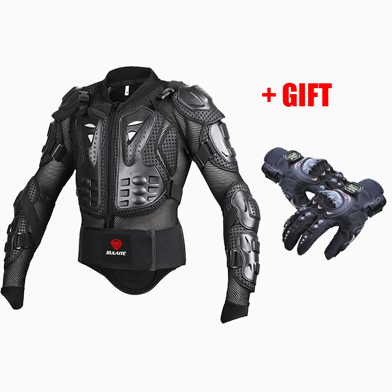 Moto Motorcycle Racing full Body Armor jackets Protective Gear motorcorss Jacket + full finger moto protective gear glovesMoto Motorcycle Racing full Body Armor jackets Protective Gear motorcorss Jacket + full finger moto protective gear gloves