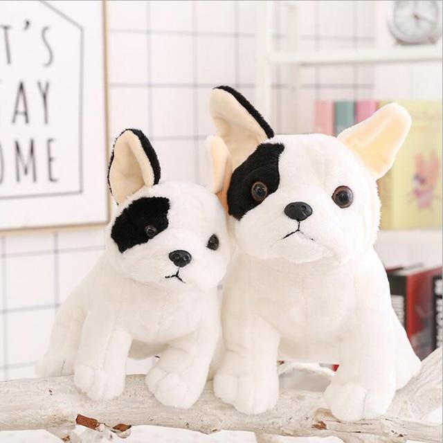 Simulation Dog Plush Toy French Bulldog Plush Doll Stuffed Animal