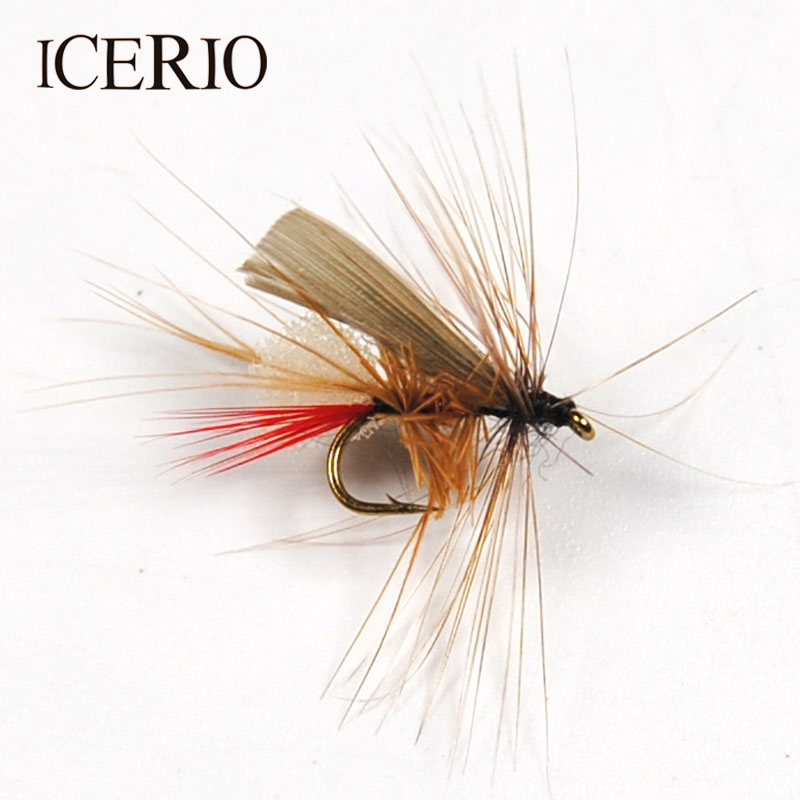 ICERIO 10PCS Caddis Foam Fly Fishing Trout Dry Fly Mayfly Bait #14 10pcs beadhead pm caddis 14 nymphs dry fly fishing trout flies