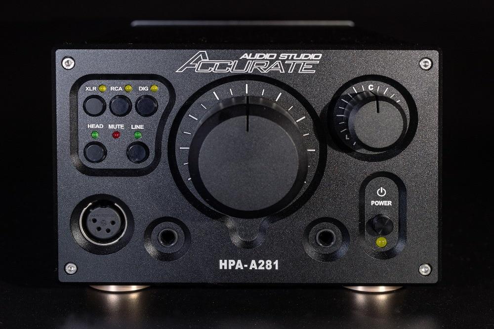 HPA-A281 Hi-end XLR Equilibrada headphone earphone Amplificador AMP Digital/RCA Estéreo Cópia/Referencial Violectric V281 HPA PREAMP