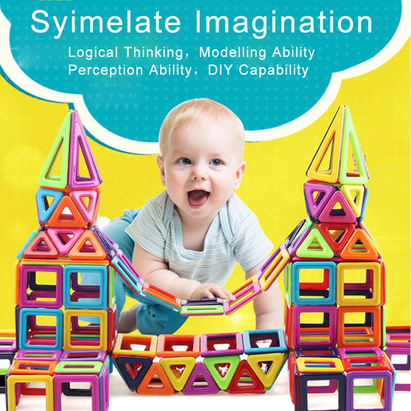 139Pcs Magnetic Building Blocks Tiles Educational Toy for Baby Kids DIY Gift New-m15 48pcs good quality soft eva building blocks toy for baby