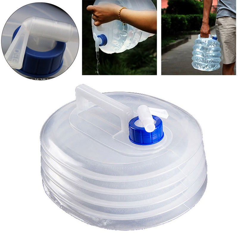 KONKY Folding Water Bucket 5L//10L//15L Collapsible /& Portable Water Container,