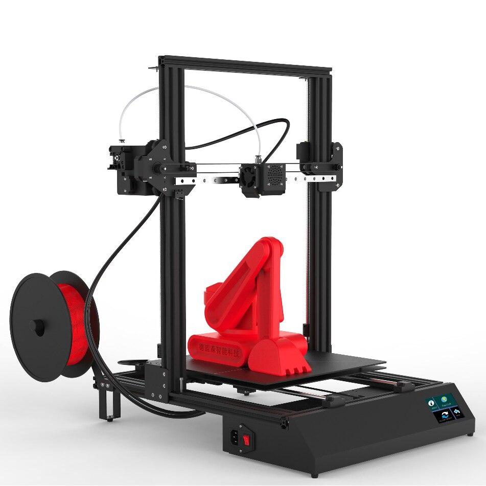 DPX DMSCREATE 3D Impressora, Moldagem size300 * 300*400, 3.5 tela de toque Super estável motherboard, guias lineares, instalação Modular.