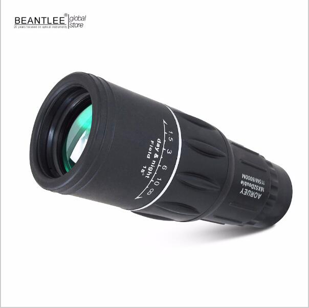 16x52 Zoom mini Monocular Telescope Black High Quilaty Single Focus Optic Lens Travel Spotting Scope HD Monoculars telescopes