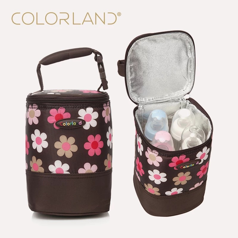 COLORLAND Fashion Baby Handbag Bottle Bag Thermo Bottles Mummy Handbag Baby Bag Insulation Bags Breast Milk