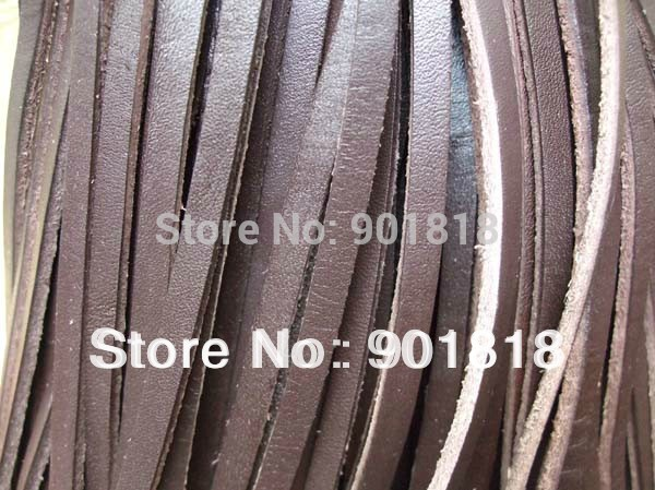 10meters/lot 5mm width genuine cow Suede flat leather cord necklace bracelet Thread String Necklace DIY jewelry accessories F660