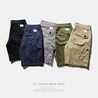 INFLATION Men S Cotton Loose Fit Multi Pocket Cargo Shorts