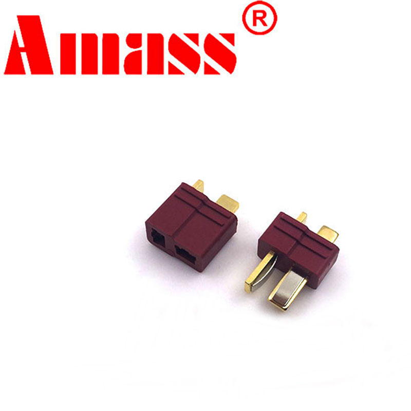 10pair/20pcs Amass RC Parts <font><b>T</b></font> Plug <font><b>T</b></font>-Plug Male & Female <font><b>Connectors</b></font> Deans Style For RC Lipo Battery <font><b>PVC</b></font> Drone Power free shiping image