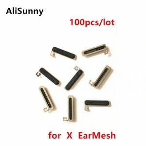 Image 1 - AliSunny 100 قطعة سماعة الأذن شبكة ل فون X التاسع XS ماكس XR مكافحة LCD الغبار الأذن المتكلم شاشة شبكة صافي شواء المطاط EarMesh أجزاء