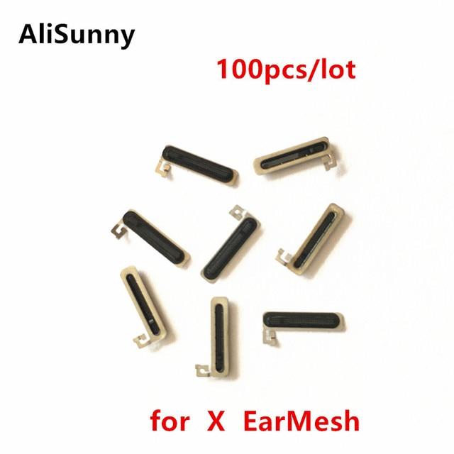 AliSunny 100 قطعة سماعة الأذن شبكة ل فون X التاسع XS ماكس XR مكافحة LCD الغبار الأذن المتكلم شاشة شبكة صافي شواء المطاط EarMesh أجزاء