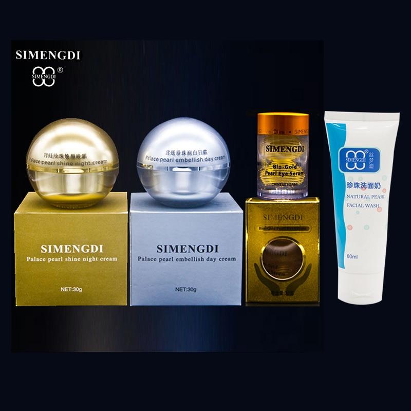 SIMENGDI Brand Pearl Embellish Day Cream gold pearl night cream Bio gold Pearl eye serum anti