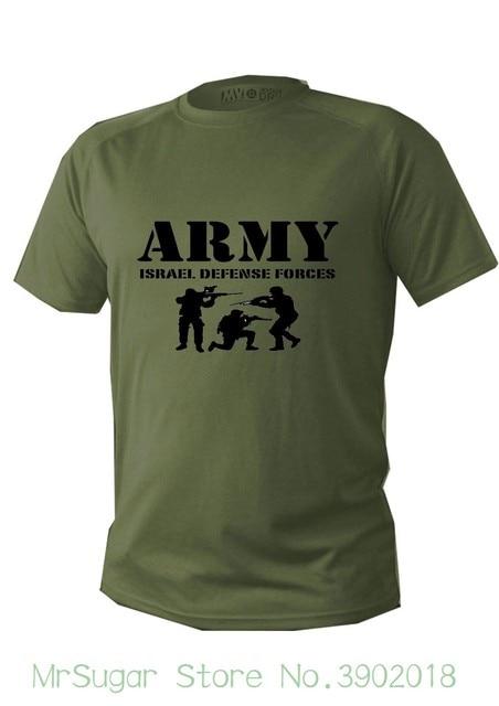 63cc05feb95045 Camisa de T Dos Homens Dry Fit Manga Curta Verde Oliva Israel Soldado Do  Exército Das