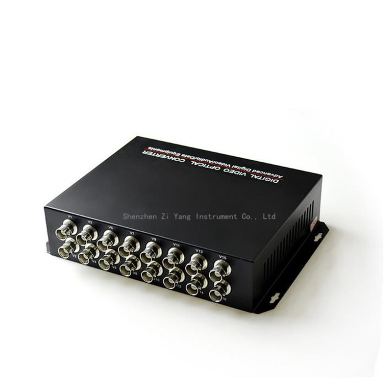 2pcs lot 16 channel video fiber converter pure video 16V single multi mode single fiber FC20KM