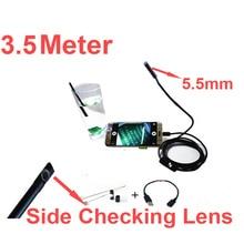 3.5Meter 480P 5.5″ diameter camera head endoscope camera Android OTG function video checking endoscope lens serveilance camera