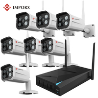 IMPORX Plug Play Wireless 8CH CCTV Camera System P2P Wireless NVR IP Camera 960P Outdoor Bullet