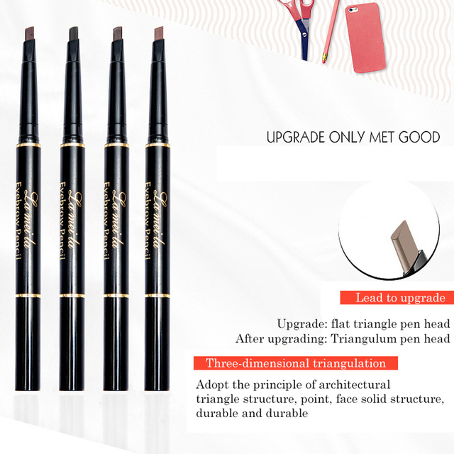 New Double-Ended 3D Eyebrow Pencil with Mascara Natural Eyebrow Tint Cosmetics Waterproof Pigment for Eyebrows Black Brown 2